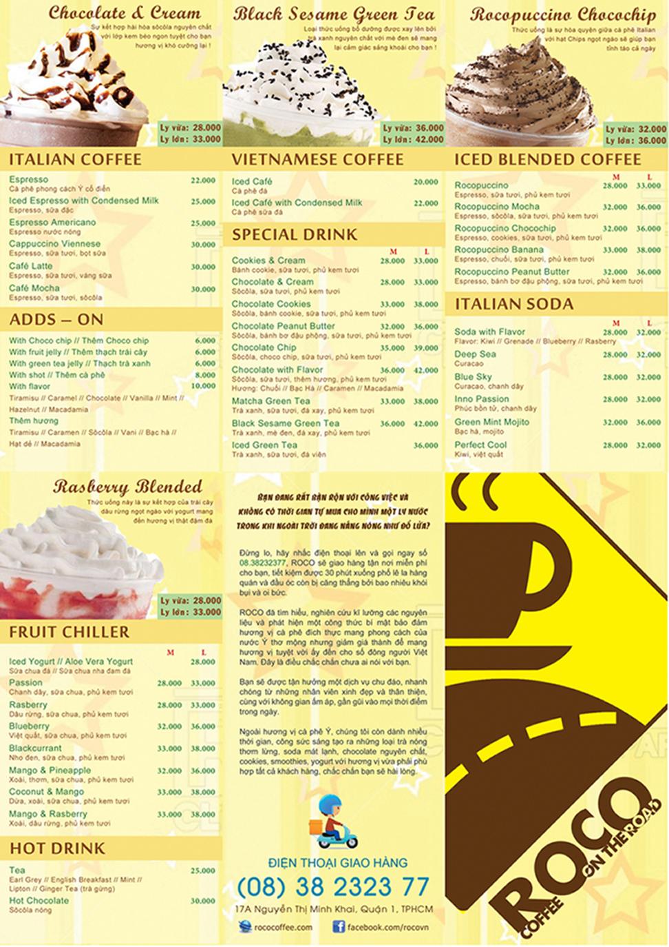 menu roco